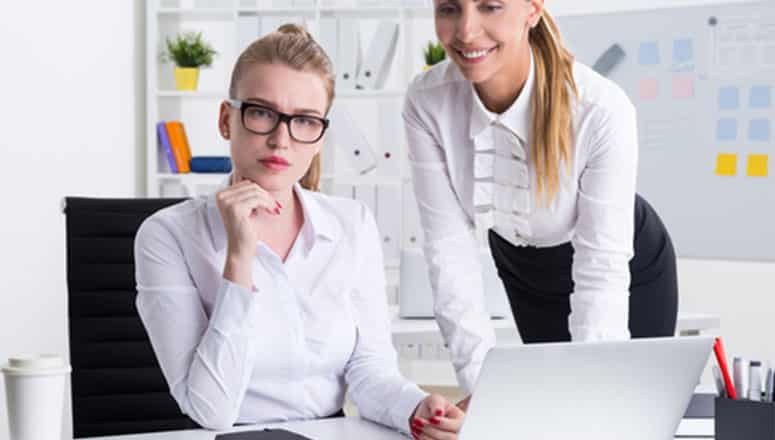 business women with glasses