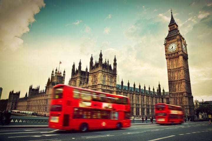 London Red Bus and Big Ben